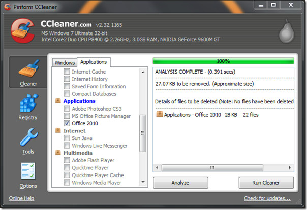 CCleaner Office 2010 2