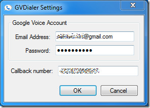 GVDialer settings