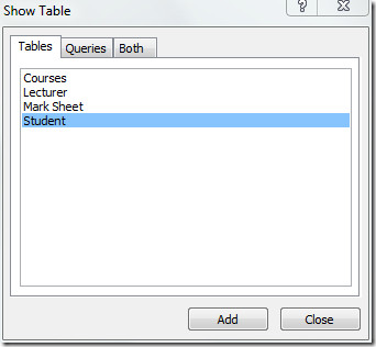 add tables