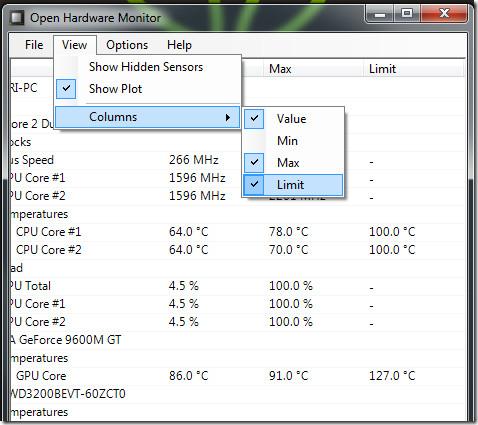 hardware temperature limit