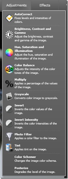 image adjustments