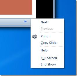 menu powerpoint