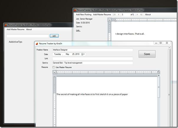 resume tracker main