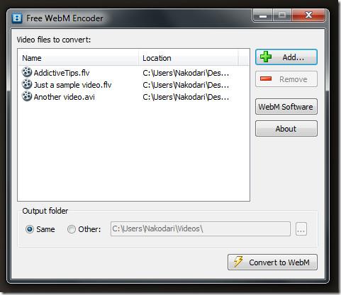 Free WebM Encoder[5]