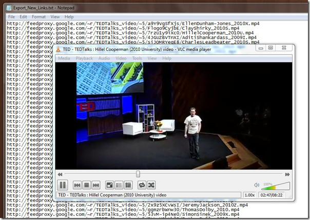 TED video downloader