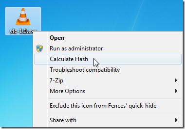 calculate hash