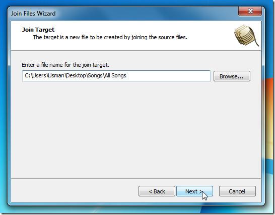 specify file name