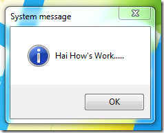 system message