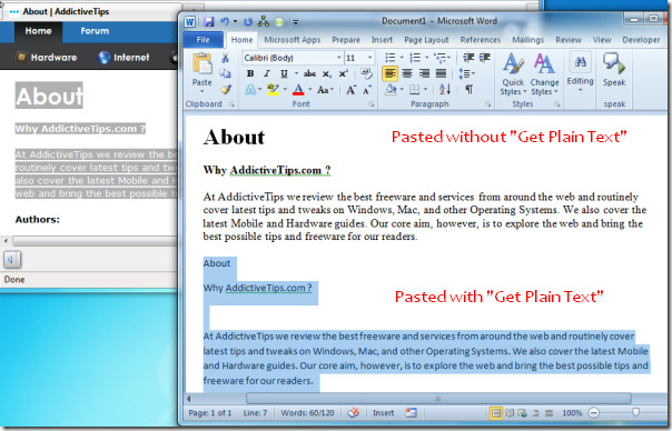 get plain text1