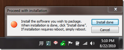 install software to package
