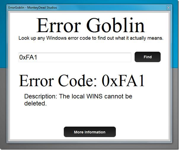 Error Goblin Desktop