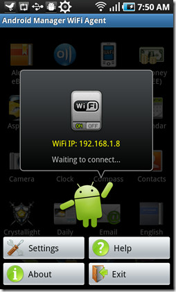 android manager WiFi PIN Waiting
