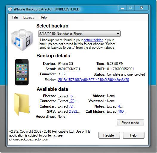 iphone backup extractor