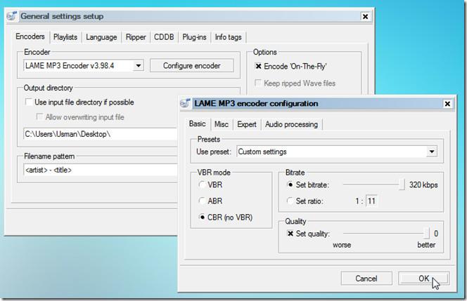 encode settings 34