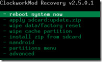 Android Clockwork Recovery