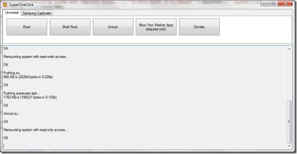 SuperOneClick v1.5.5 Root Samsung Fascinate