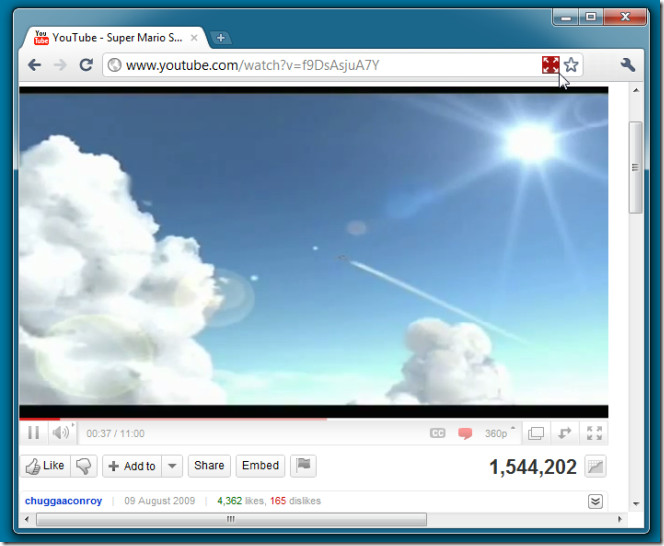 Youtube Windown Expander Button