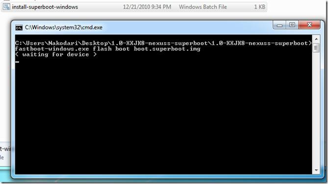 superboot  nexus s windows