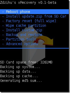 xRecovery Mini for Xperia X10 Pro