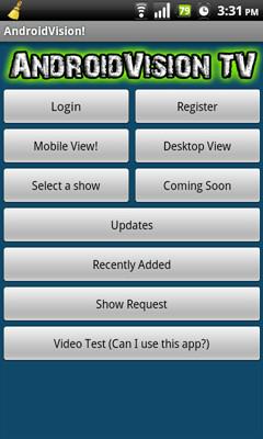 AndroidVision TV Main