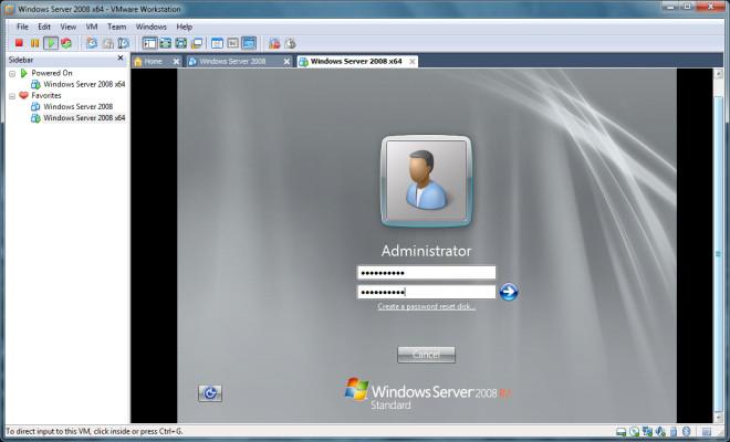 Windows Server 2008 x64 Login