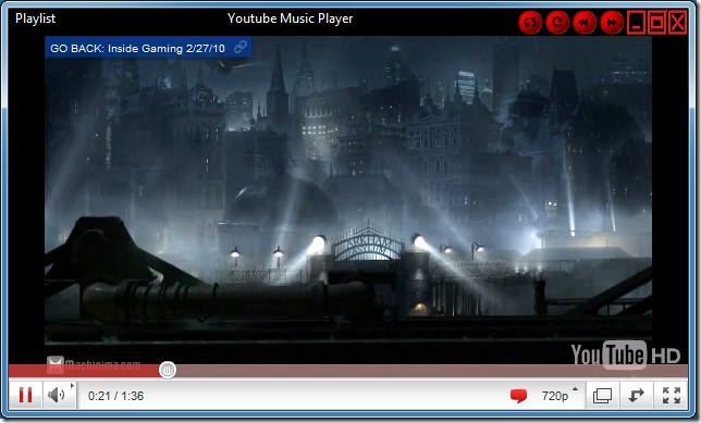 You Tube Music Player