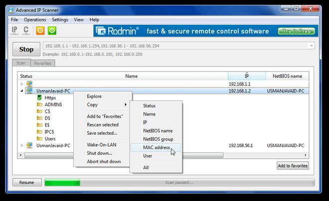 Advanced IP Scanner 1