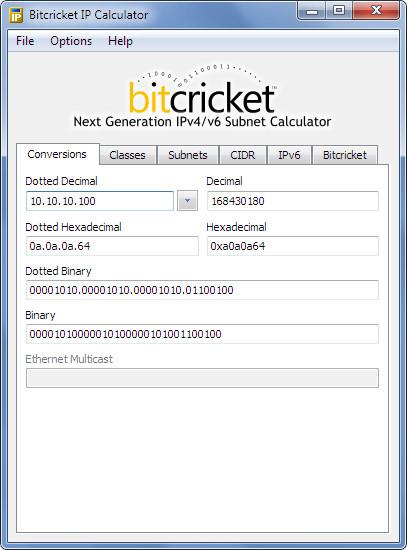 Bitcricket IP Calculator