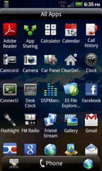 EViO Shift 4G Apps