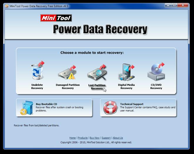 MiniTool Power Data Recovery Free Edition v6.5