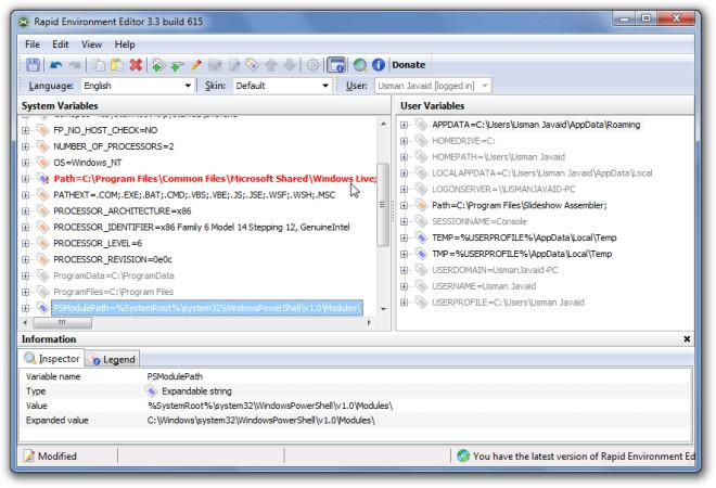 Rapid Environment Editor 3.3 build 615