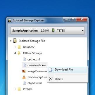 WP7 Isolated Storage Explorer Standalone