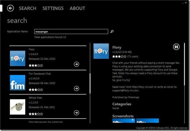 XGENO.WindowsMarketPlace Search