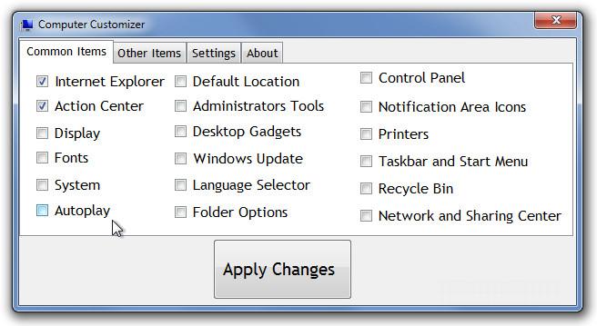Computer Customizer