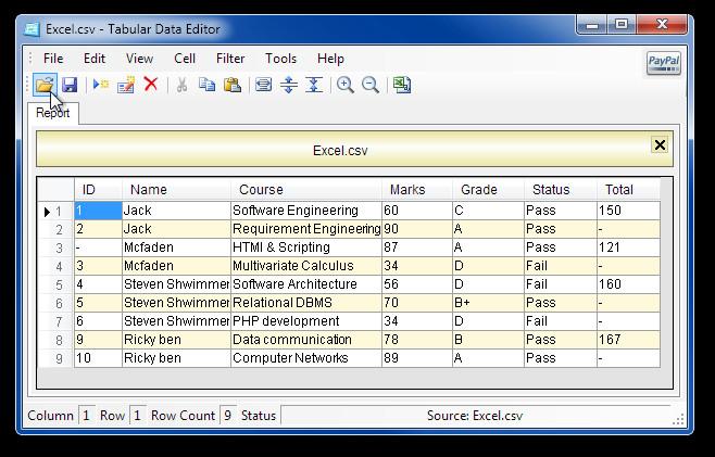 Tabular Data Editor