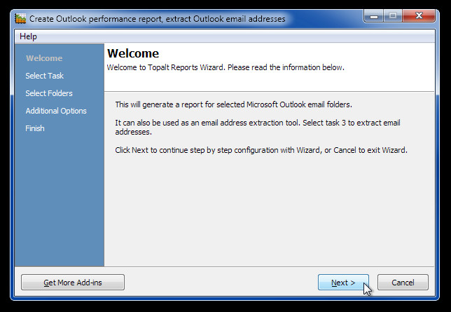 selected email report 1