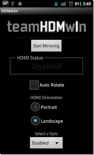 HDMwIn For EVO 4G