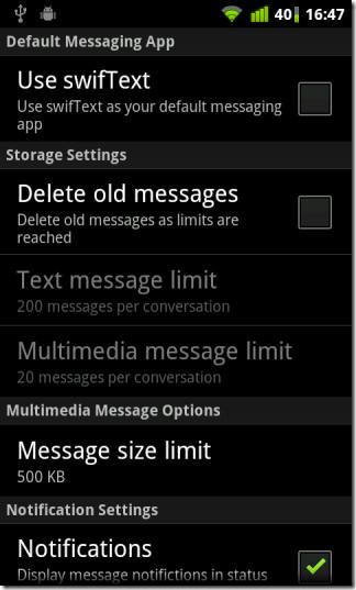 swifText-as-default-messaging-application