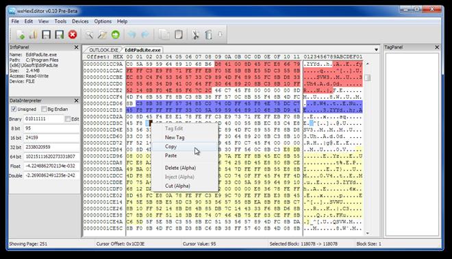 wxHexEditor v0.10 Pre-Beta