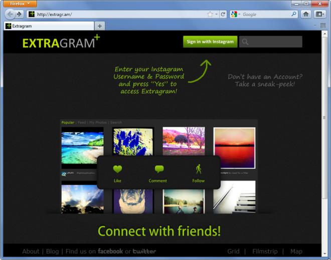Extragram - Mozilla Firefox