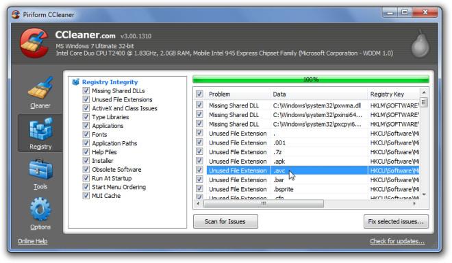Piriform CCleaner Registry 2