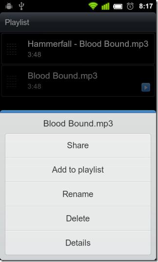 Playlist-options