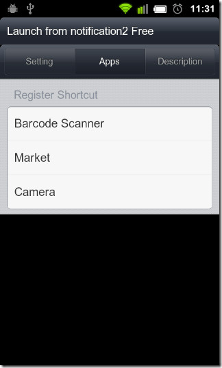 Register-shortcut