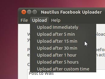 Upload delay