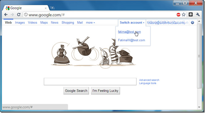 Google Account switcher