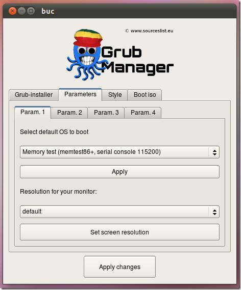 Grub Manager