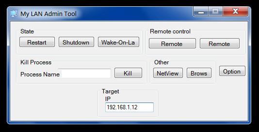 My LAN Admin Tool