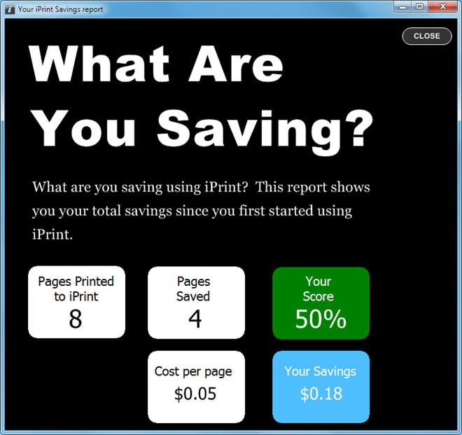 Savings Report