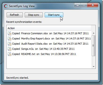 SecretSync. log