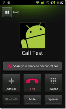 Shake-to-disconnect-call